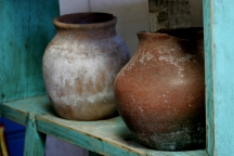Two Lovely Old, Handmade Pots